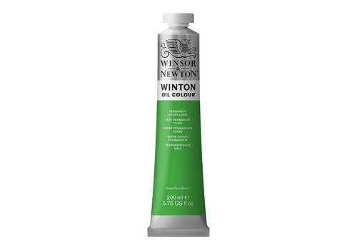Winsor & Newton W&N Winton olieverf 200ml Permanent Green Light