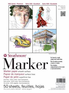 Strathmore 500 serie Marker Semi Transparant 23x30,5cm