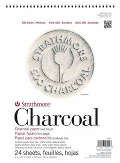 Strathmore 500 serie Houtskool Pad Assorted tints 23x30,5cm