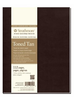 Strathmore Toned Tan Schets 20x24,8cm softcover