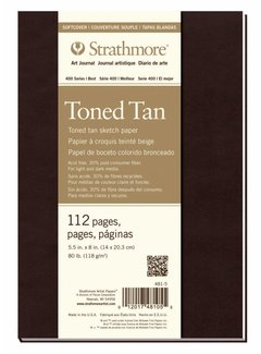 Strathmore Toned Tan Schets 14x20,3cm softcover