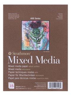 Strathmore 400 serie Mixed Media 15,2x20,3 15 vellen