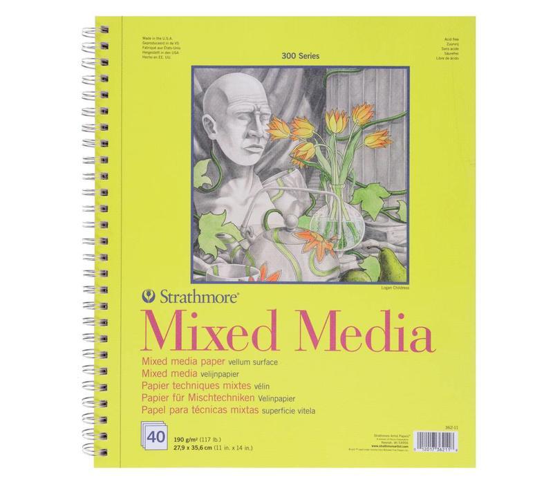 300 serie Mixed Media 14x21,6 40 vellen