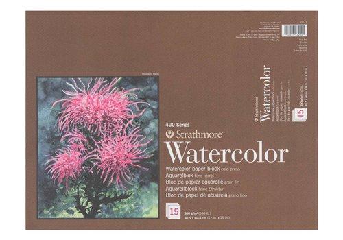 Strathmore 400 serie Aquarelpapier 4 -zijden 22,9x30,5 15 vellen