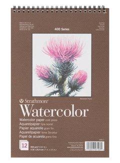 Strathmore 400 serie Aquarelpapier 17,8x25,4 12 vellen