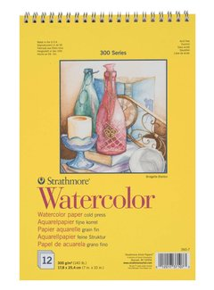 Strathmore 300 serie Aquarelpapier 17,8x25,4 12 vellen