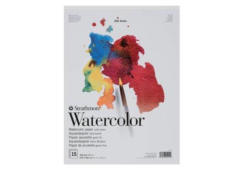 Strathmore 200 serie Aquarelpapier 22,9x30,5 15 vellen