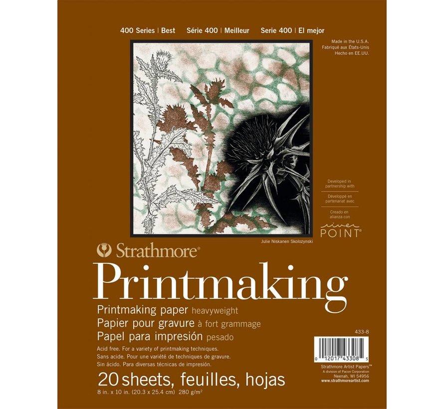400 serie Printmaking papier 20,3x25,4 20 vellen