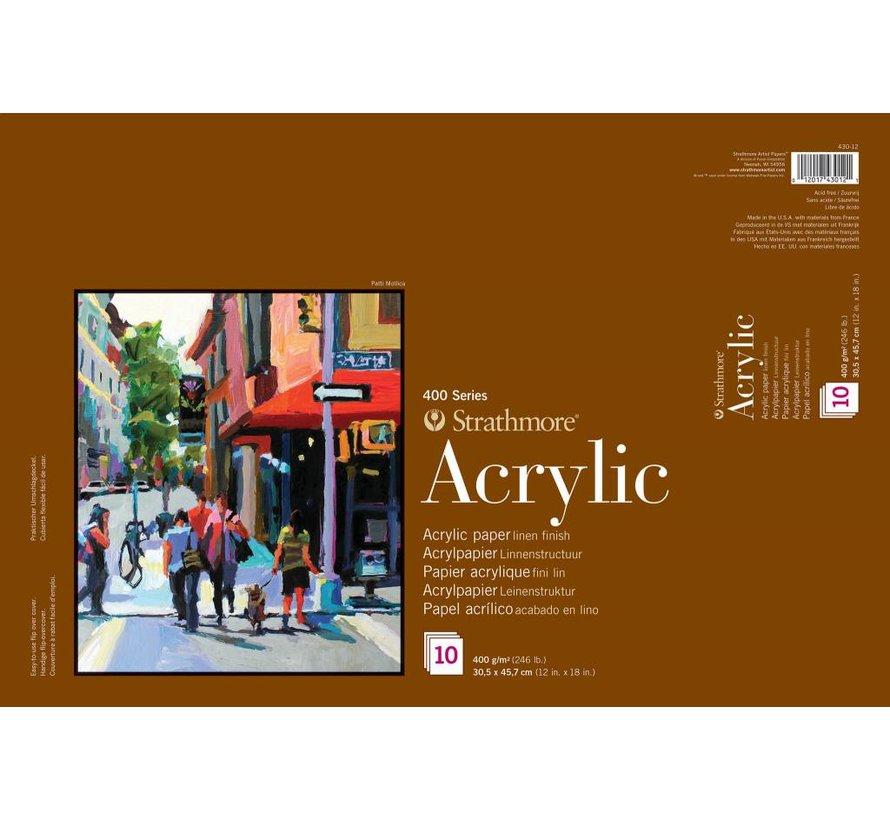 400 serie Acrylpapier 30,5x45,7 10 vellen