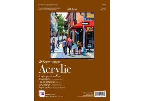 Strathmore 400 serie Acrylpapier 22,9x30,5 10 vellen
