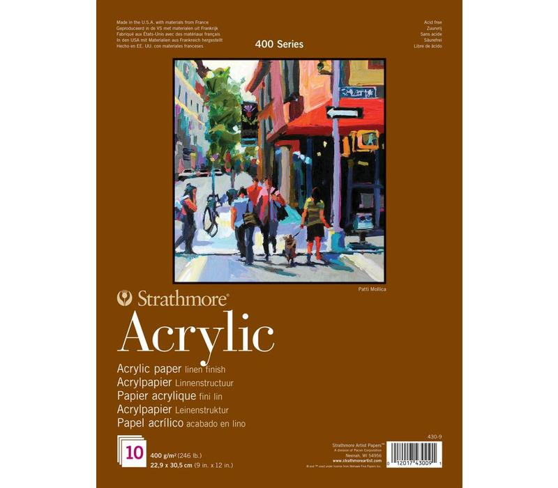 400 serie Acrylpapier 22,9x30,5 10 vellen