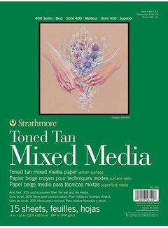 Strathmore Toned Tan Mixed media blok 15x20,3cm