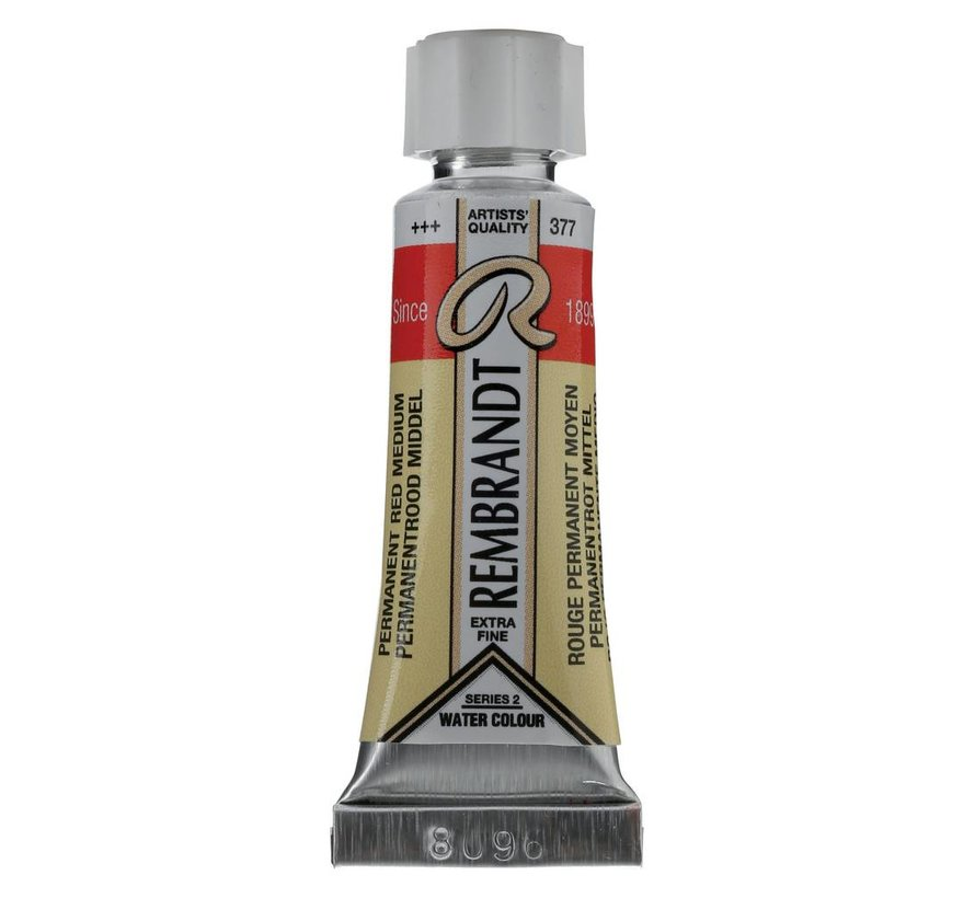 Aquarelverf 5ml Permanentrood middel 377