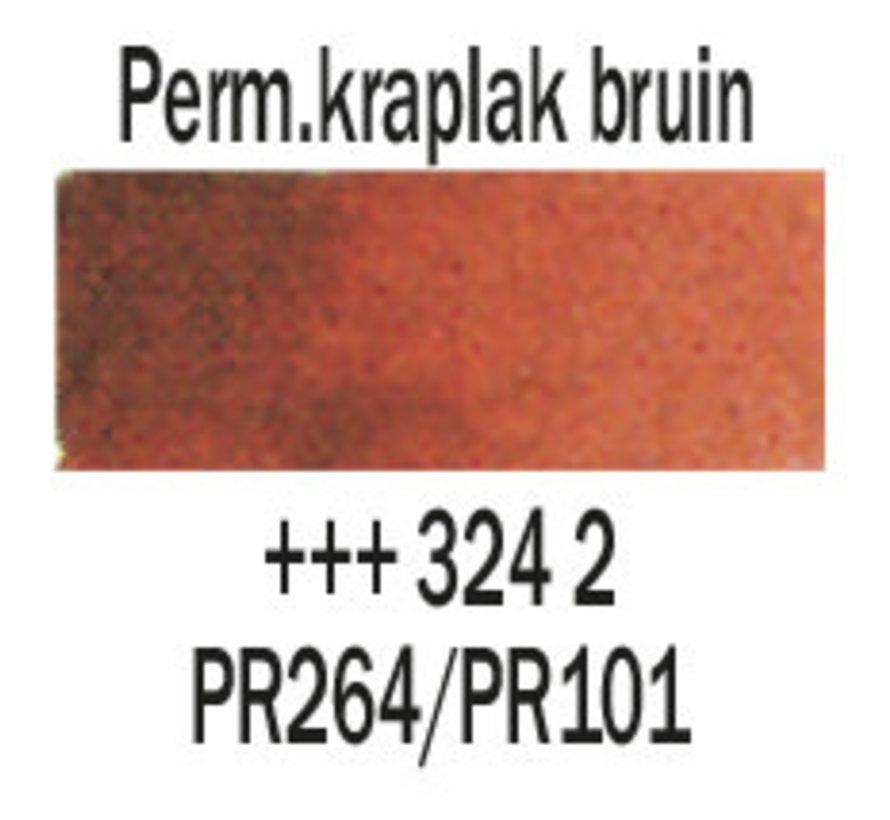 Aquarelverf 20ml Permanentkraplak bruin 324