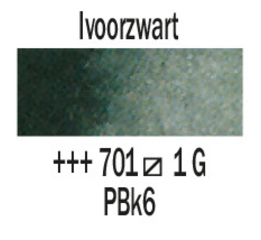 Aquarelverf 5ml Ivoorzwart 701