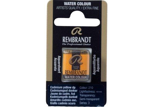 Rembrandt Aquarelverf napje Cadmiumgeel donker 210