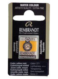 Rembrandt Aquarelverf napje Cadmiumgeel middel 271