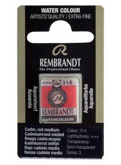 Rembrandt Aquarelverf napje Cadmiumrood middel 314
