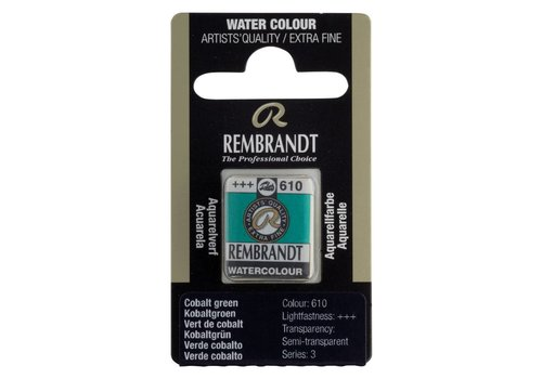 Rembrandt Aquarelverf napje Kobaltgroen 610