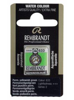 Rembrandt Aquarelverf napje Permanentgeelgroen 633