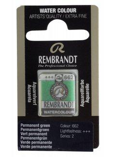 Rembrandt Aquarelverf napje Permanentgroen 662