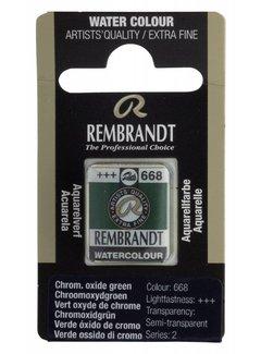 Rembrandt Aquarelverf napje Chroomoxydgroen 668
