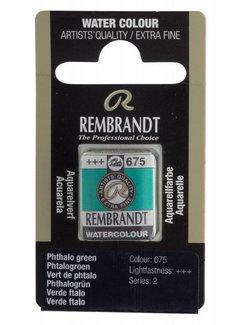 Rembrandt Aquarelverf napje Phtalogroen 675
