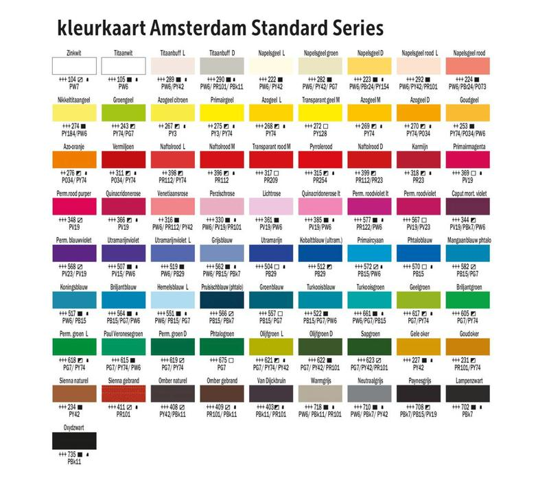 Amsterdam acrylverf 120ml standard 399 Naftolrood donker
