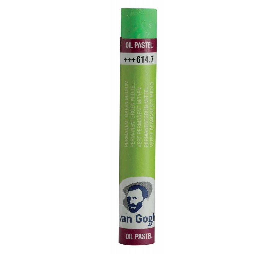 Oliepastel Permanentgroen middel 7
