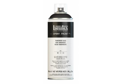 Liquitex Acrylverf spuitbus 400ml Transparent Black