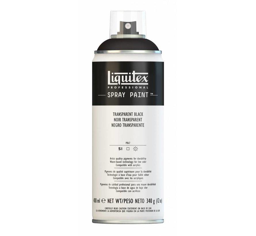 Acrylverf spuitbus 400ml Transparent Black