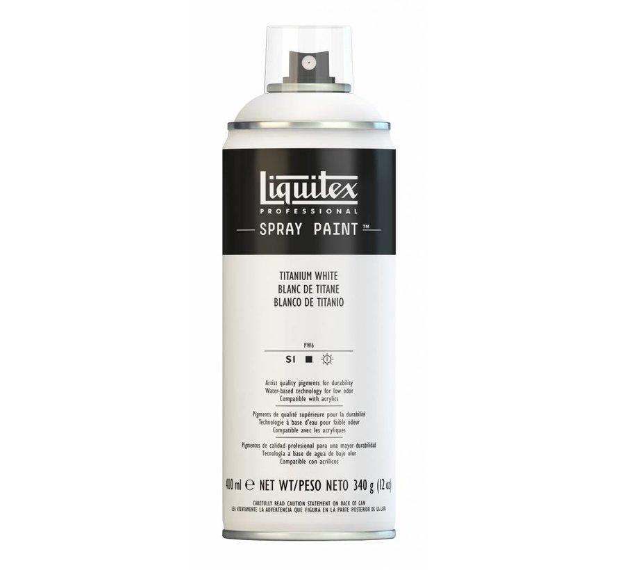 Acrylverf spuitbus 400ml Titanium White