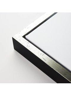 Schoot Baklijst 3D zwart top zilver