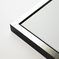 Baklijst blok zwart top zilver
