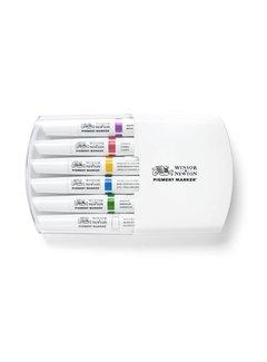 Winsor & Newton Pigment Marker Set 6 Stuks Rich Tones