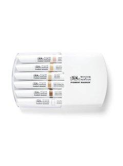 Winsor & Newton Pigment Marker Set 6 Stuks Skin Tones
