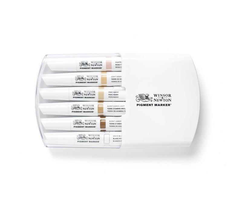 Pigment Marker Set 6 Stuks Skin Tones