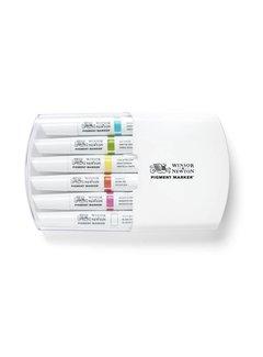 Winsor & Newton Pigment Marker Set 6 Stuks Vibrant Tones