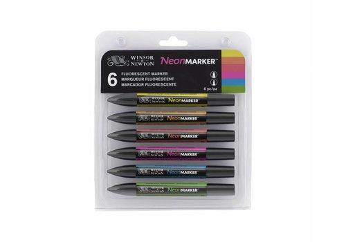 Winsor & Newton Neonmarker Set 6 Stuks