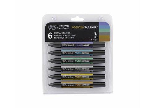 Winsor & Newton Metallicmarker Set 6 Stuks