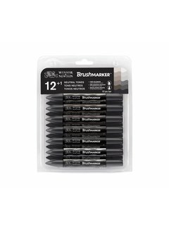 Winsor & Newton Brushmarker Set 12 Stuks Greys