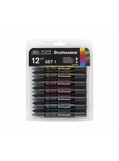 Winsor & Newton Brushmarker Set 12+1 Stuks Vibrant Tones