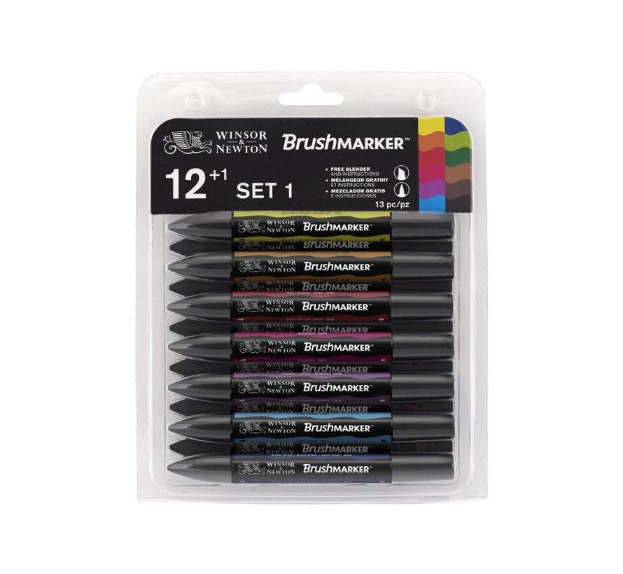Brushmarker Set 12+1 Stuks Vibrant Tones