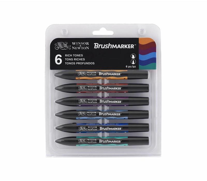 Brushmarker Set 6 Stuks Rich Tones