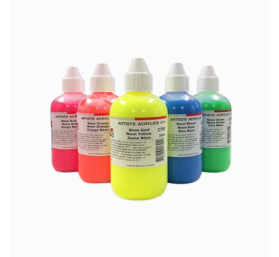 Artist acrylverf 250ml Neon Red M710