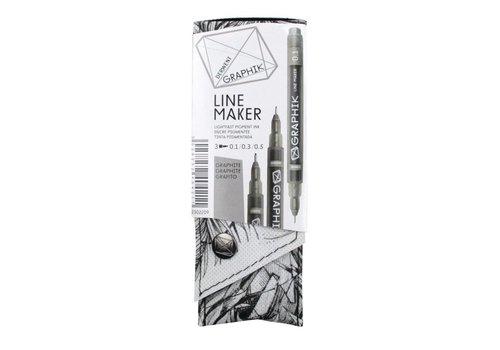 Derwent GRAPHIK line maker set 3 graphite