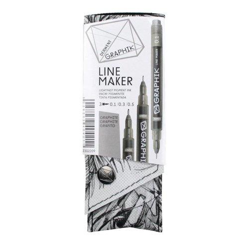 GRAPHIK line maker set 3 graphite