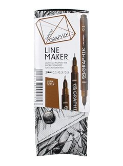Derwent GRAPHIK line maker set 3 sepia