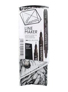 Derwent GRAPHIK line maker set 3 black