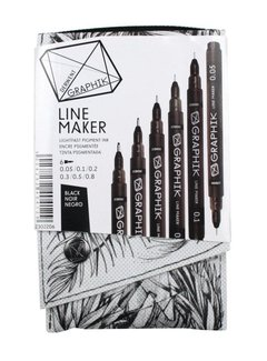 Derwent GRAPHIK line maker set 6 black